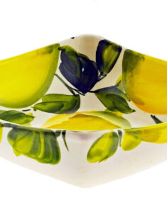 Medium Size Lemons Design Square Ceramic Bowl