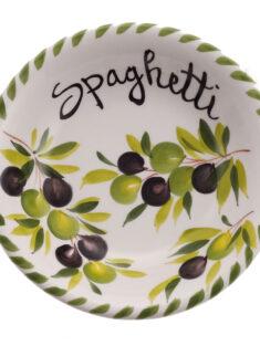 SMALL Olives Design Italian Ceramic Spaghetti Bowl